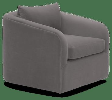 amelia swivel chair taylor felt grey