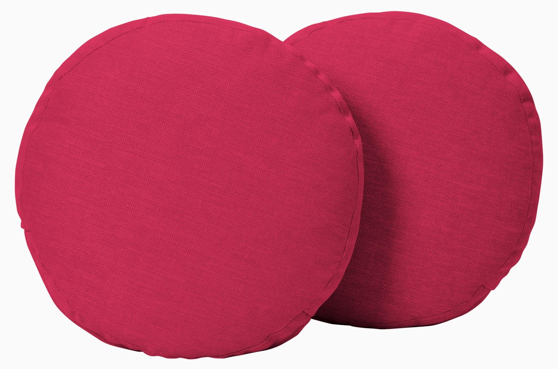 decorative round pillows %28set 2%29 key largo bubblegum