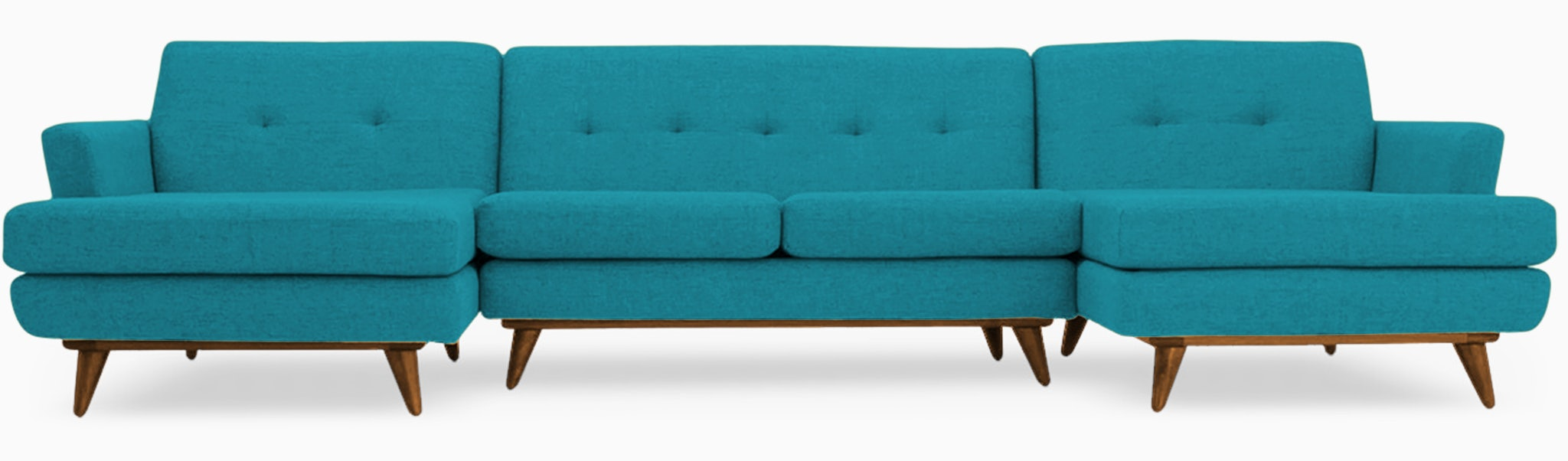 hughes chaise sectional %283 piece%29 vibe aquatic