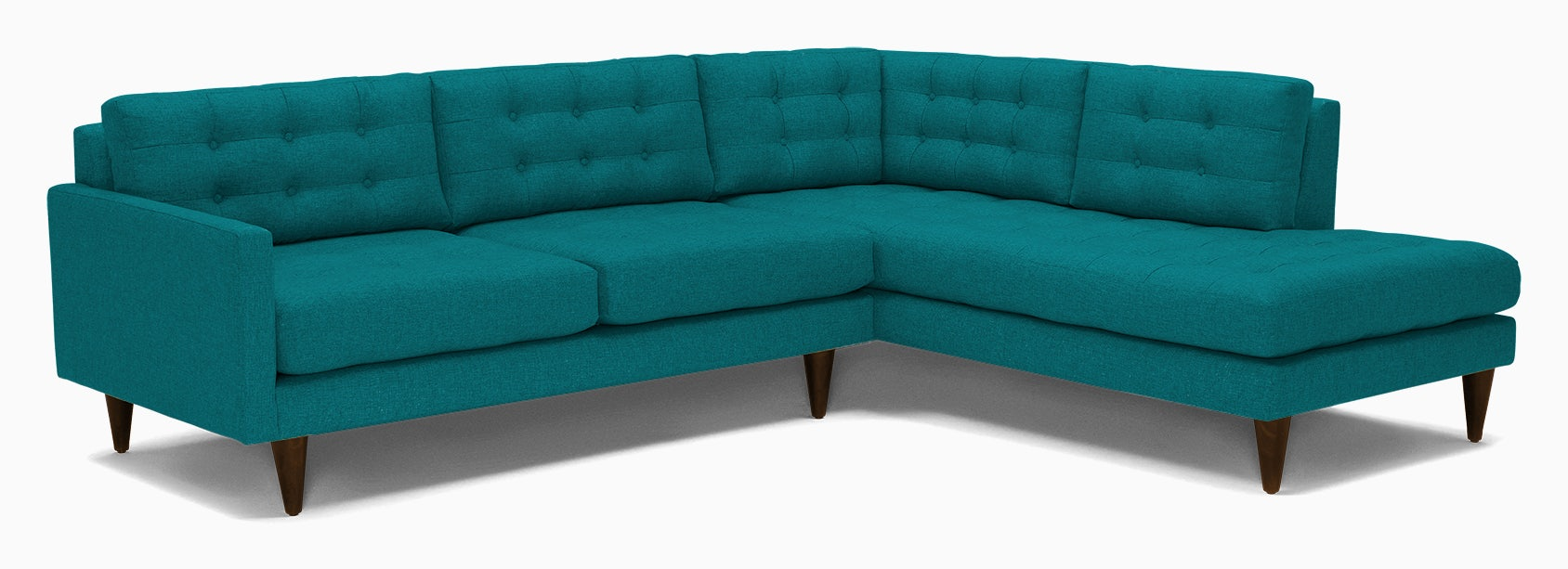 eliot sectional with bumper %282 piece%29 lucky turquoise