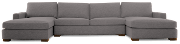 anton chaise sectional taylor felt grey