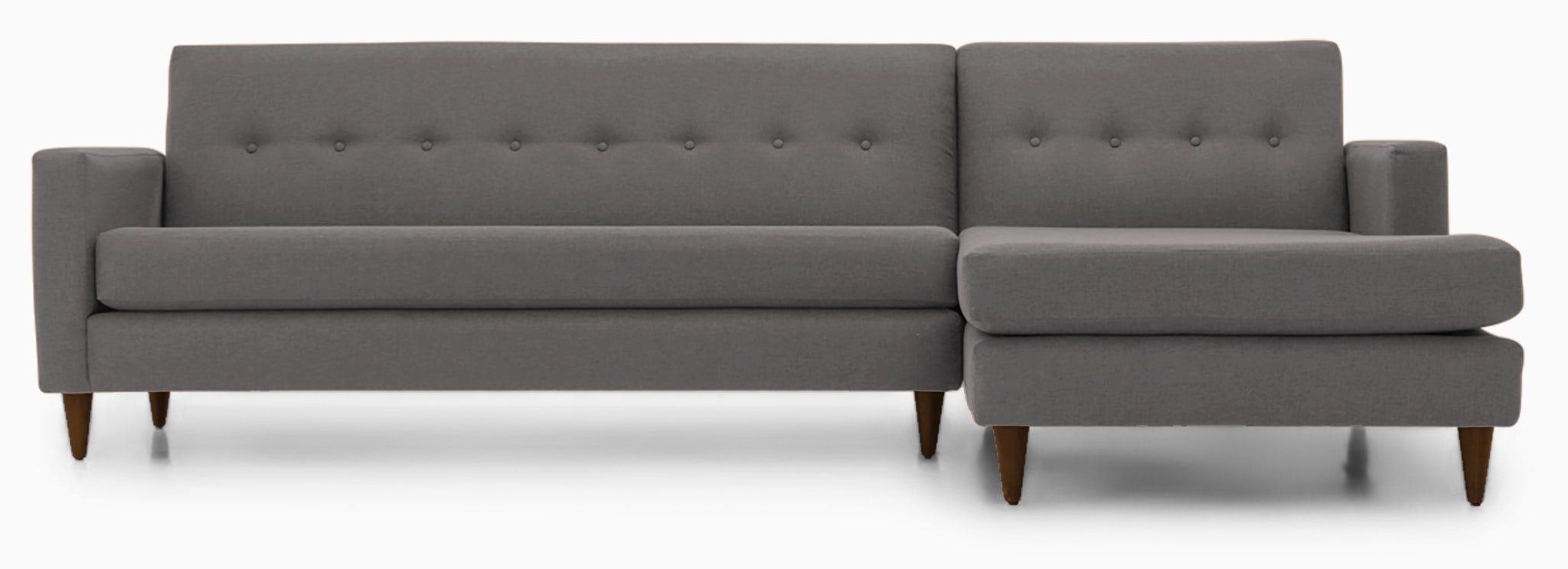 korver sectional taylor felt grey