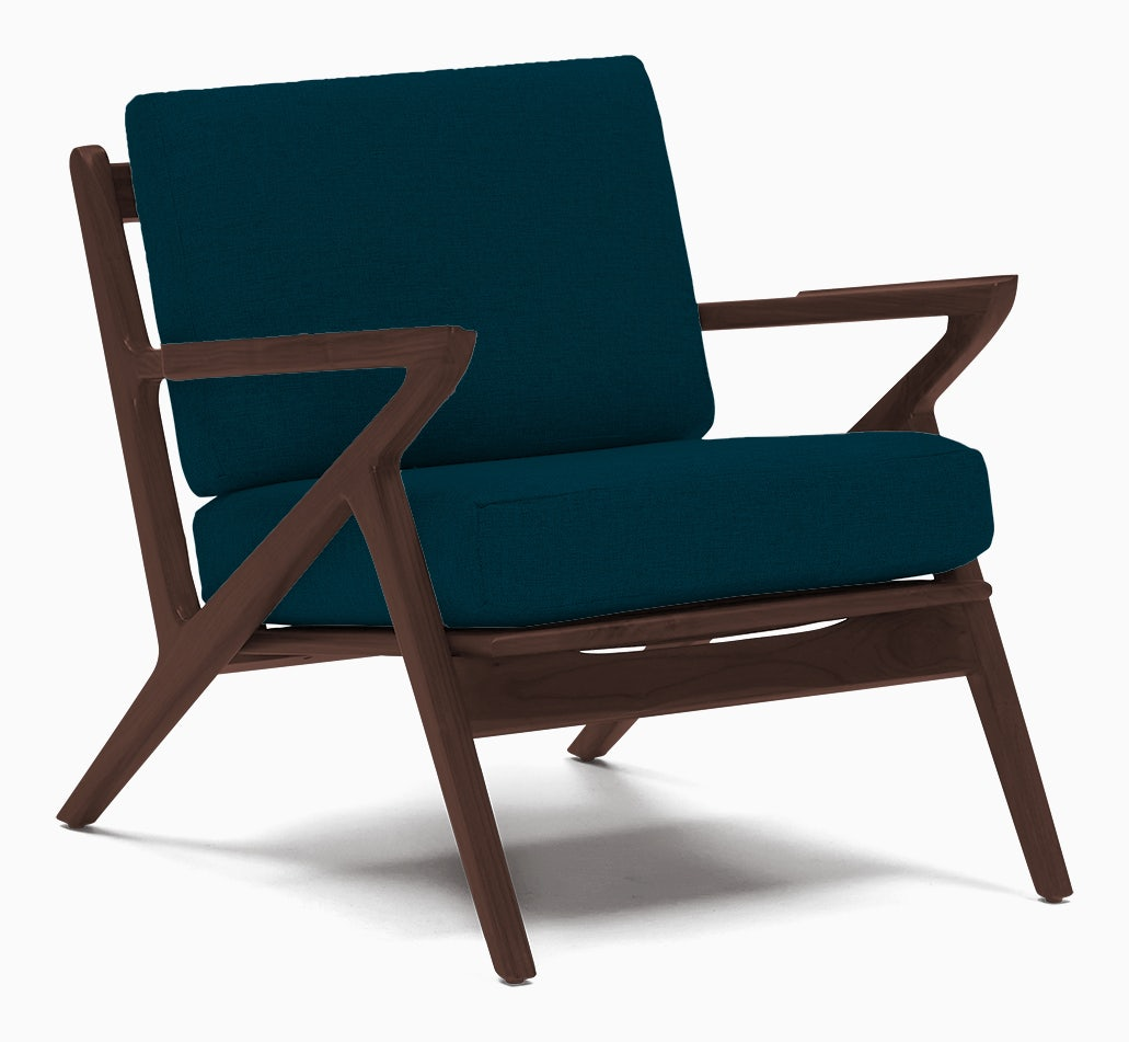 soto concave arm chair key largo zenith teal