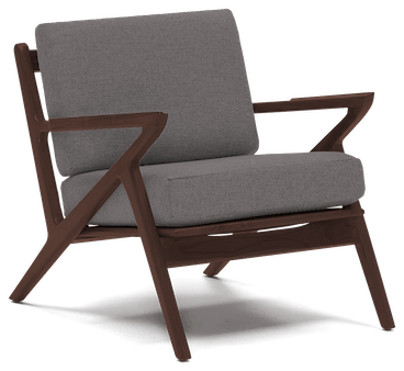 soto concave arm chair taylor felt grey