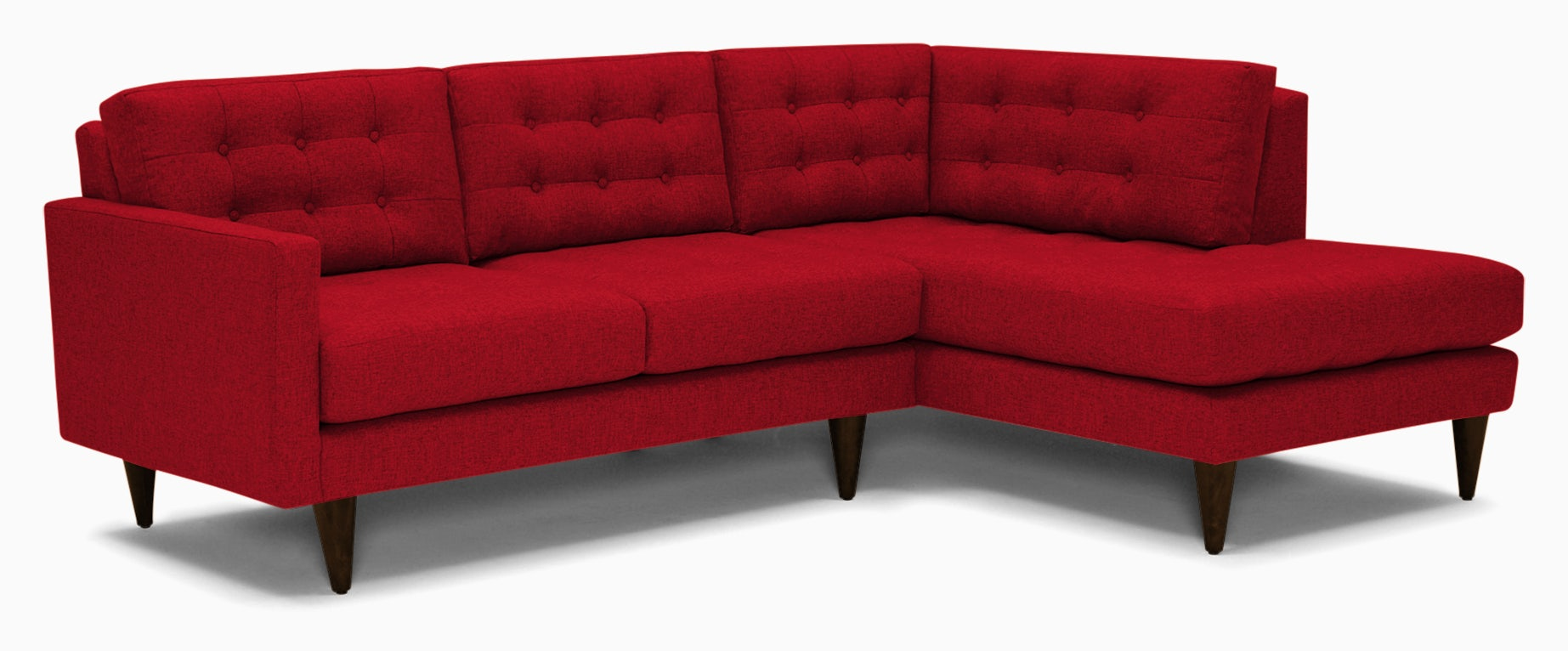 eliot apartment sectional with bumper key largo ruby