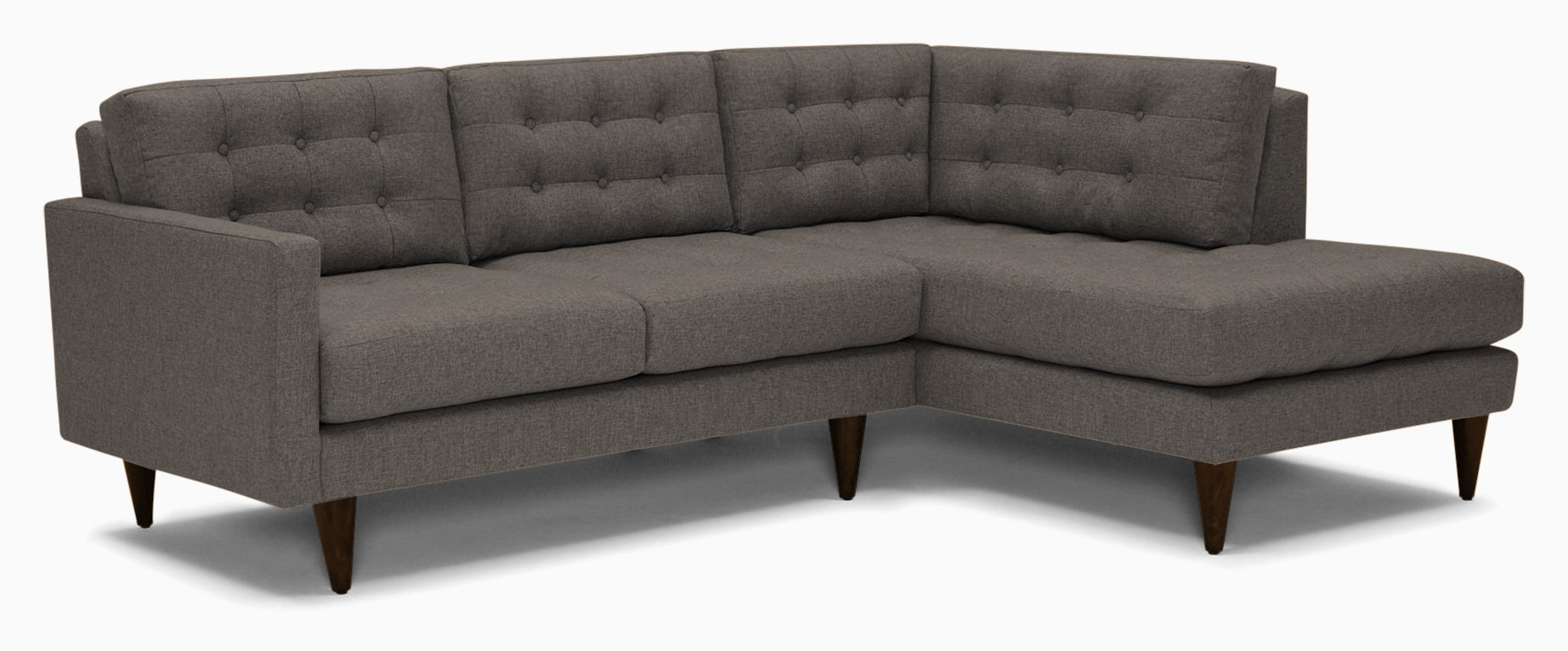 eliot apartment sectional with bumper cody slate