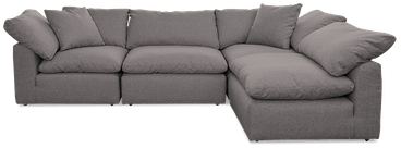 bryant sectional %284 piece%29 taylor felt grey