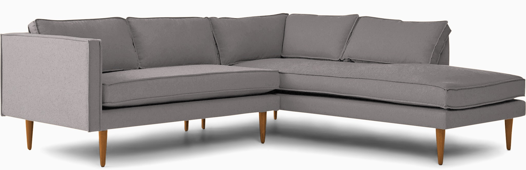 serena sectional with bumper %282 piece%29 taylor felt grey
