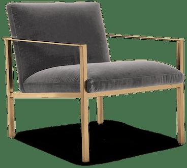 orla accent chair taylor felt grey