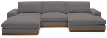 holt modular sofa bumper sectional taylor felt grey