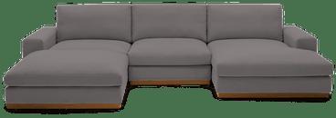 holt modular sofa bumper sectional taylor felt grey