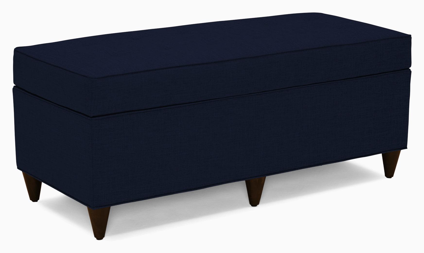 cammy bench with storage bentley indigo