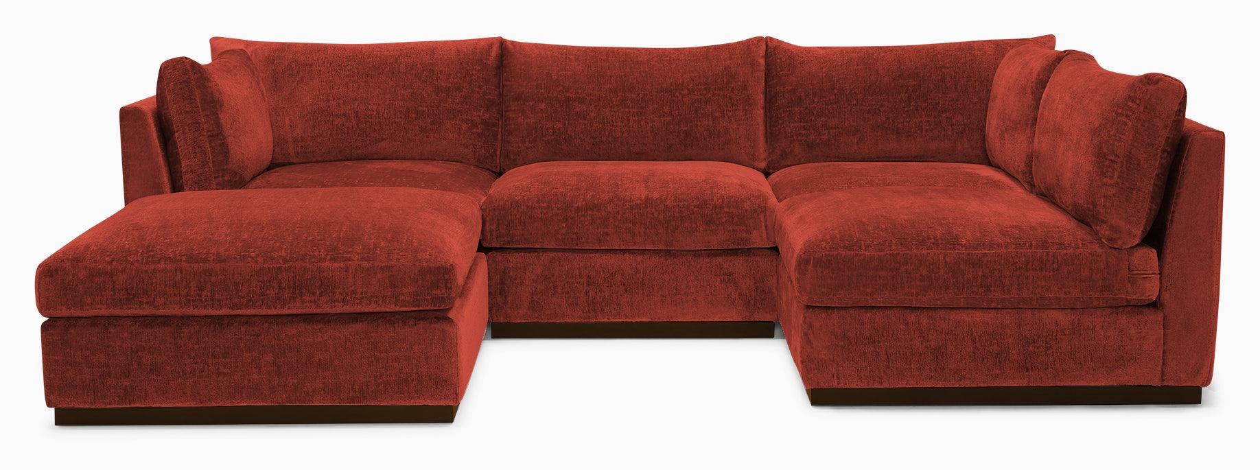 holt armless sofa sectional %285 piece%29 cordova picante
