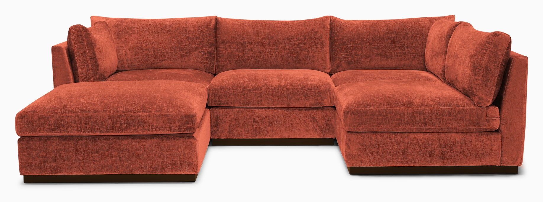 holt armless sofa sectional %285 piece%29 key largo coral