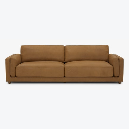 Henri Leather Sofa Toledo Camel
