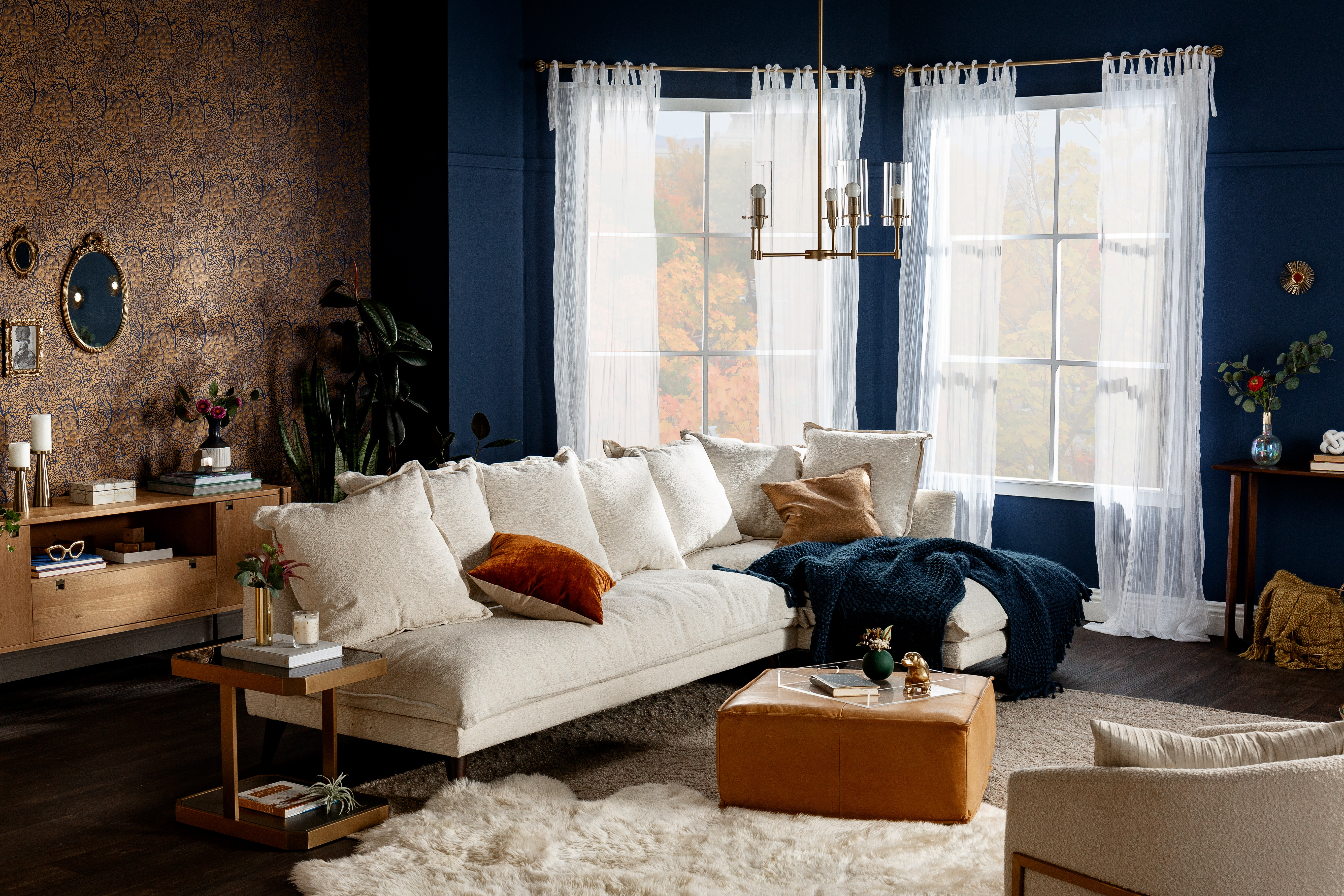Fall Sale Denna Sectional Tussah Snow