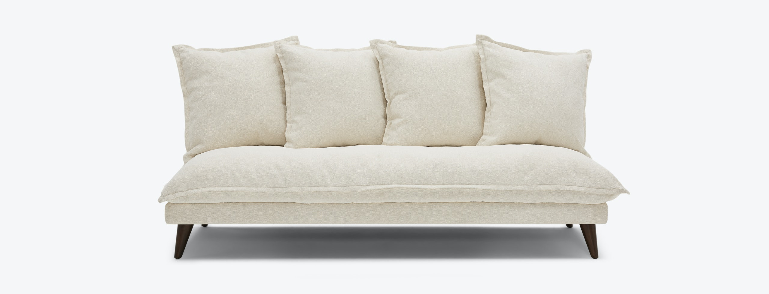 Denna Armless Loveseat Tussah Snow