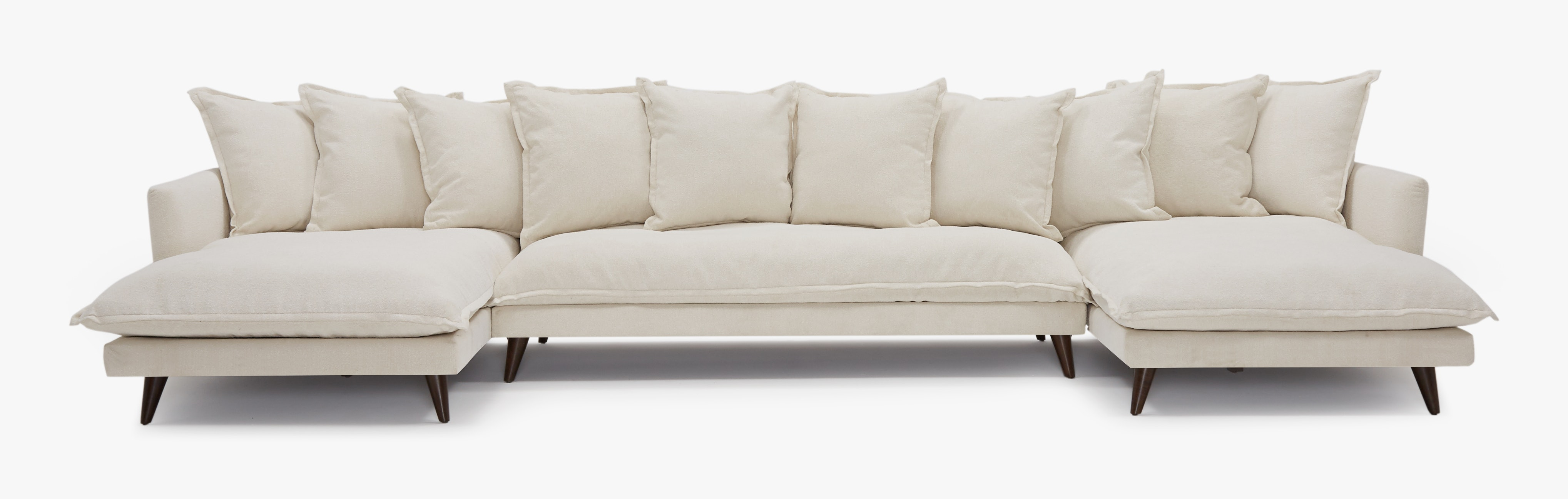 Denna Chaise Sectional Tussah Snow