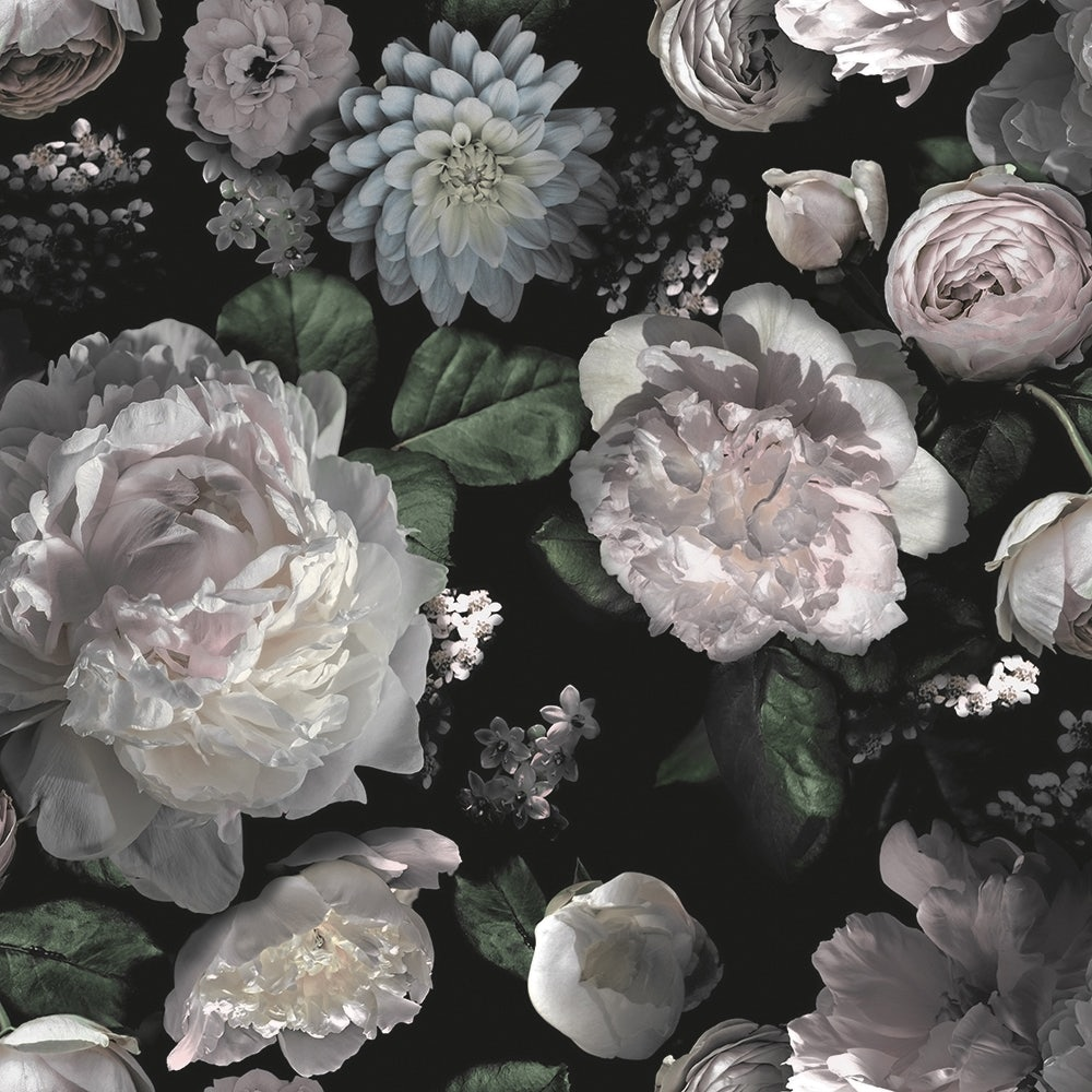 Dark Floral Wallpaper Joybird