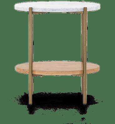 gldnbrss savi end table