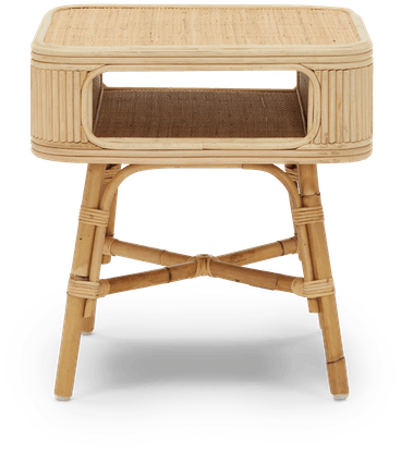 natural josephine end table