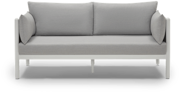 white cambria outdoor loveseat