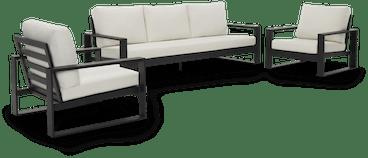 black lucia outdoor sofa set %283 piece%29