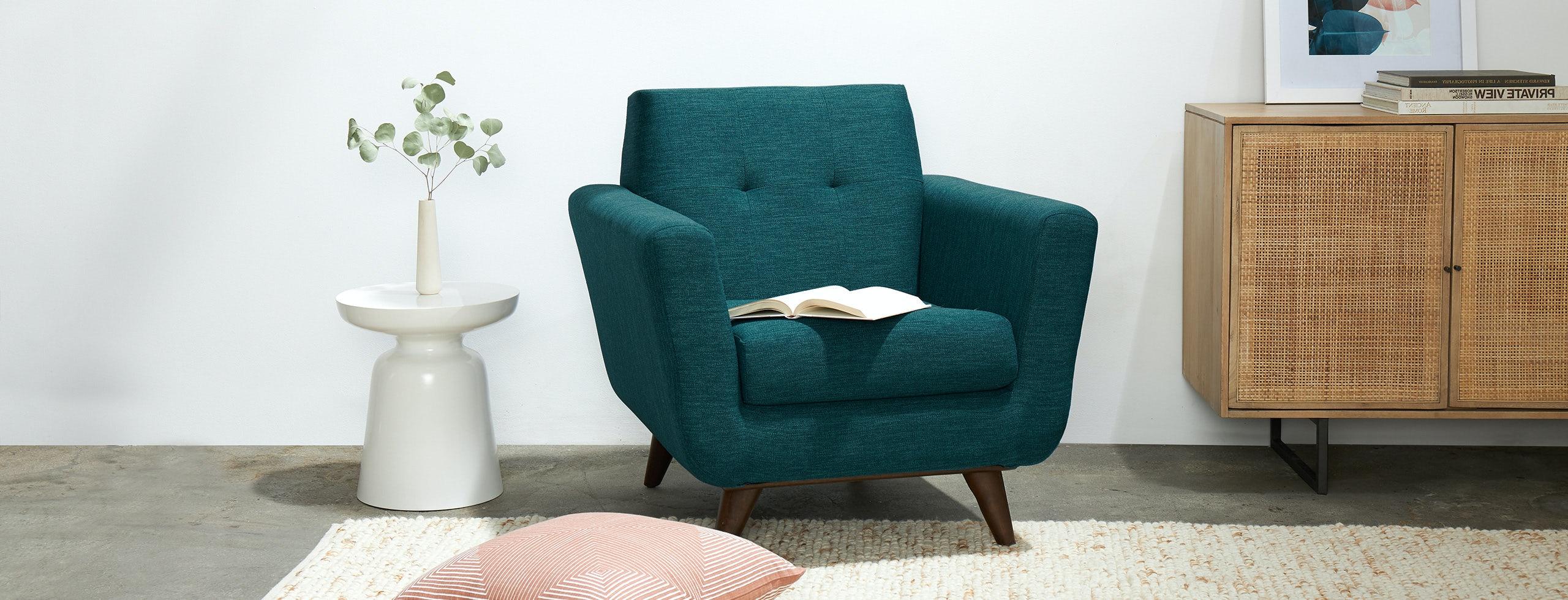 Hughes Apartment Chair Key Largo Zenith Teal Flip