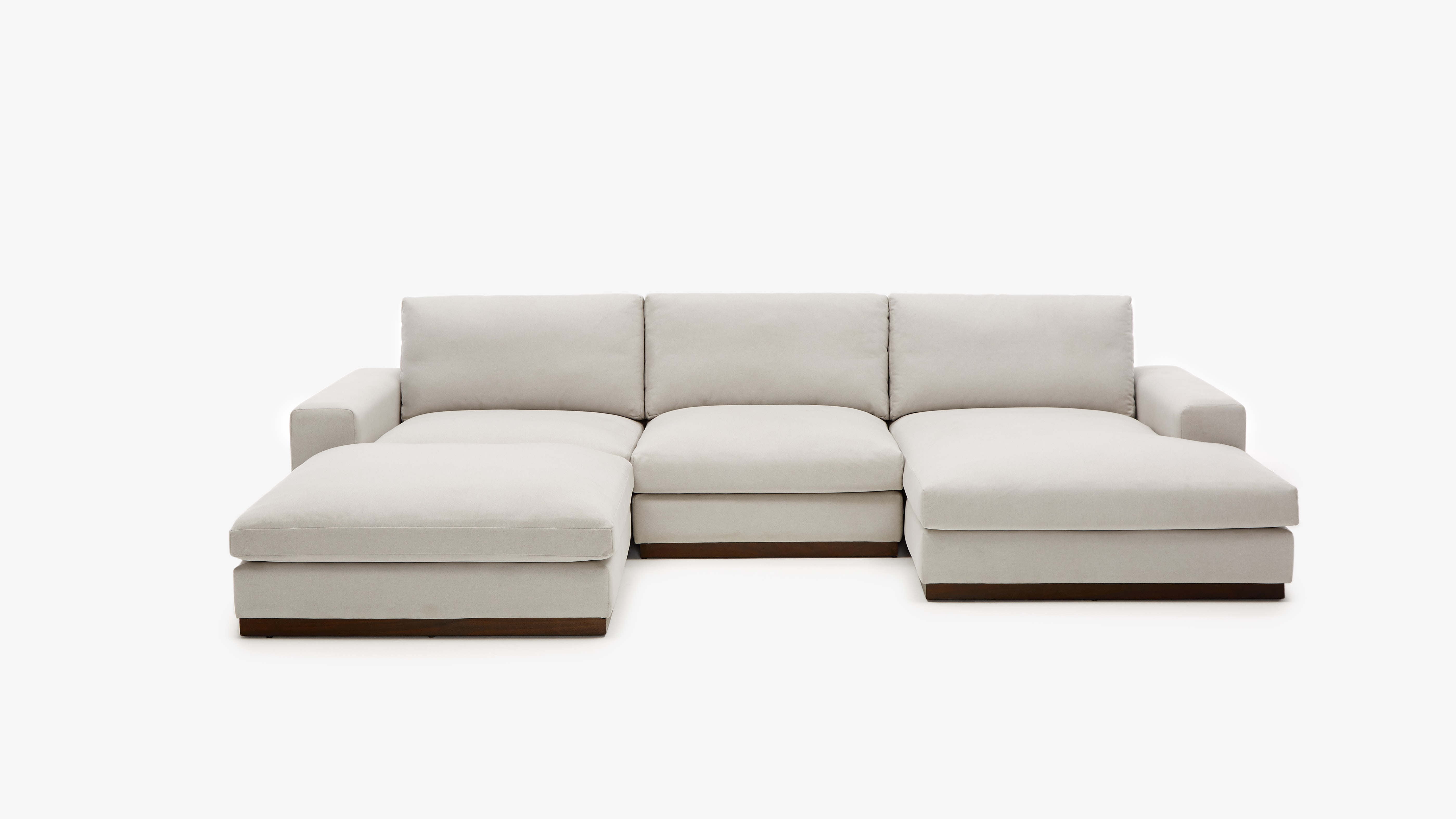 Holt Modular Sofa Bumper Sectional Devon Platinum