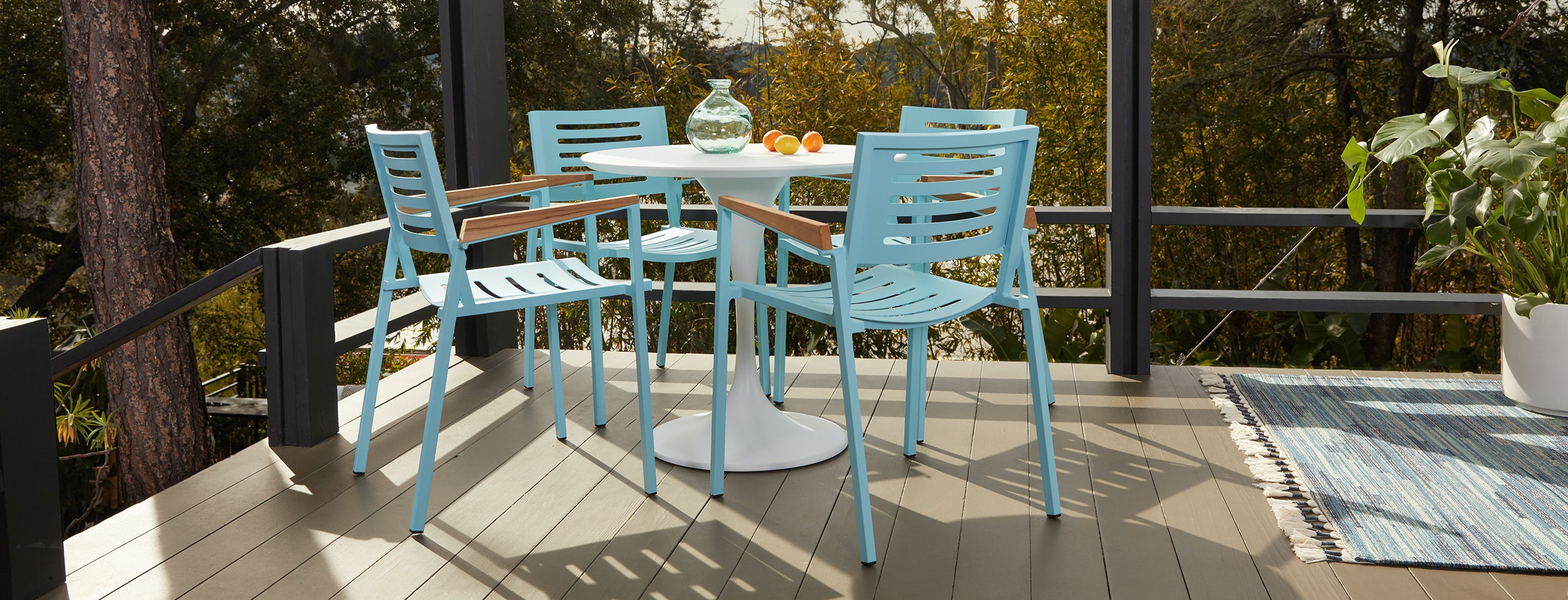 Orly Outdoor Dining Chair Teal